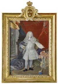 porträtt av kung fredrik i (1676-1751) by niclas lafrensen the elder