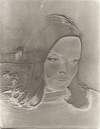 solarized portrait, new york by erwin blumenfeld