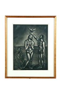 baptism of christ by georges rouault