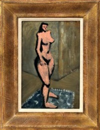 nude female by milton avery