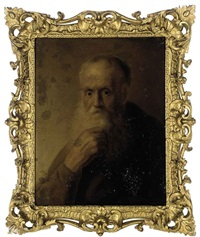portrait of an old man in a brown coat by jan andreas lievens the younger