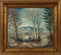 mountainous wooded landscape by ernest lawson