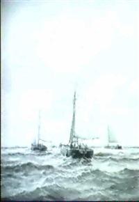 auslaufende fischewer by p. sterkenburg