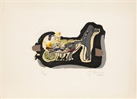 gelinotte (sold with 205a; set of 2) by georges braque