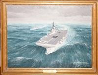 hms illustrious on exercise north atlantic by david hogan