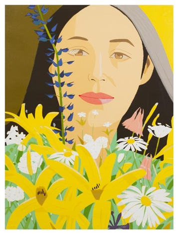 ada with flowers by alex katz