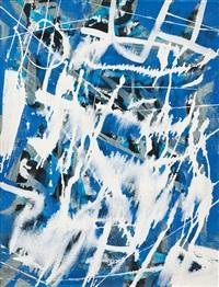 auf blau by franz fedier