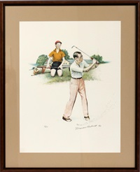 golf (from the school days portfolio) by norman rockwell