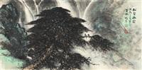 松壑幽禽图 (bird in verdant forest) by li xiongcai