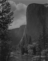 el capitan, yosemite valley by ansel adams