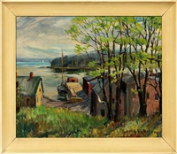 nova scotia wharf by earl bailly
