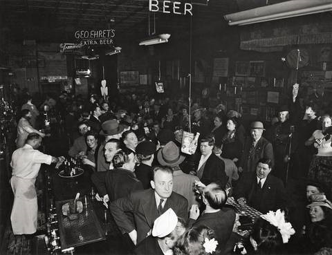 at sammys in der bowery by weegee