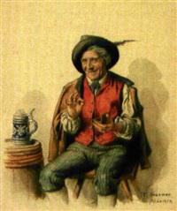 trinker (+ schnupfer; pair) by peter kramer