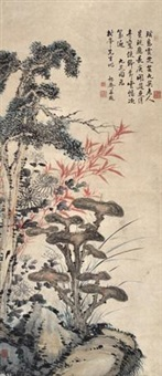 九芝图 (ganoderma lucidum) by hong wu