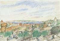 aussicht auf die stadt von oben by alexandre arkadevich labas