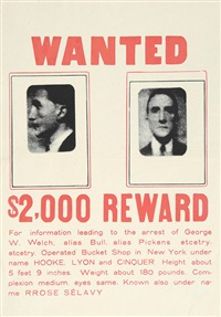 wanted $2000 reward by marcel duchamp