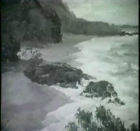 kauai coastal scene by horatio nelson poole