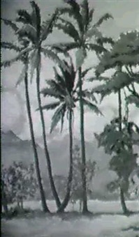 a pair of hawaiian tropical scenes by horatio nelson poole