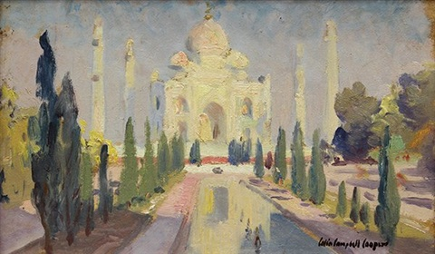 view of the taj mahal by colin campbell cooper