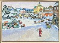 winter in a city by stas blinov