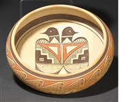 a hopi polychrome bowl by fannie nampeyo