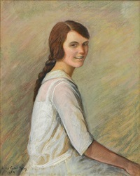 portrait of a young woman by lilla cabot perry
