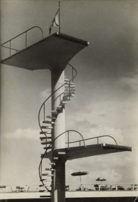 untitled (diving platform, barrandov) by josef sudek