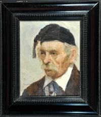 <b>Anne Heger</b> - anne-heger-portrait-eines-herren-mit-schwarzer-zipfelm%25C3%25BCtze