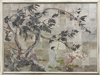 contemplating cherry blossoms by harmen c. koops