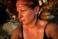 self portrait on the rocks, levanzo, sicily by nan goldin