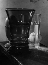 untitled (glass still life with egg) by josef sudek