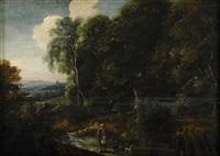 landskap med figurstaffage by jacques d' arthois