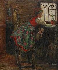 flickan vid fönstret by hilma af klint