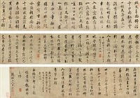 行书诗卷 (calligraphy) by wang shouren