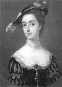 portrait of mrs. binning (mrs. stuart of torrens), sister of the countess of dundonald by francis lindo