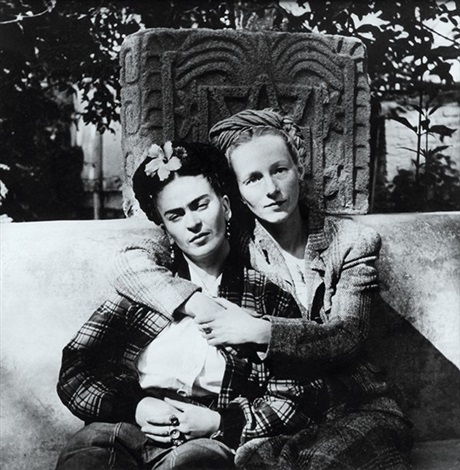 frida khlao and emmy packard by diego rivera