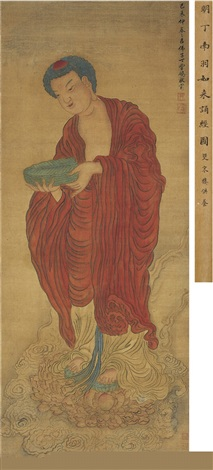 如来诵经图 buddha reciting sutras by ding yunpeng