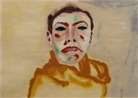 the stoic clown by francesco clemente