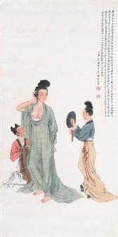 贵妃出浴图 by liu lingcang