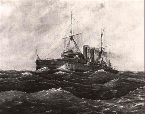 the british cruiser hms hawke by g eames