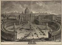 il prospetto pricipale del tempio e piazza s. pietro in vaticano by giuseppe vasi