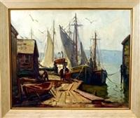 harbor scene by maria veronica liszt