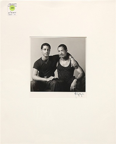 portrait of two men by robert mapplethorpe