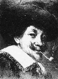 <b>Joseph Karl</b> Stieler - joseph-karl-stieler-bildnis-eines-pfeiferauchenden-mannes-in-der-tracht-des-17.-jahrhunderts