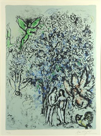blue paradise by marc chagall