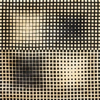 limited edition room-sized rug with original tag by victor vasarely