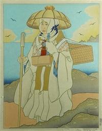 pelerinages d'automne. isle de sado, japon by paul jacoulet