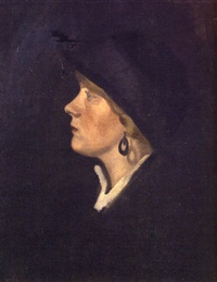 portrait of sybil hart davis by mabel pryde nicholson