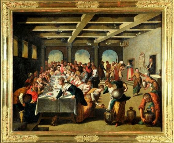 Die Hochzeit Zu Kana Kopie Nach Tintoretto 1518 1594 Von Anonymous