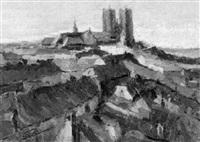 blick über die dächer von brüssel auf st. gudule by richard leutenez